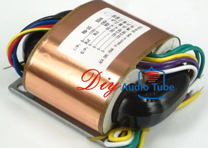 50W Power Toroidal Audio Output Transformer , R Core Transformer High Strength