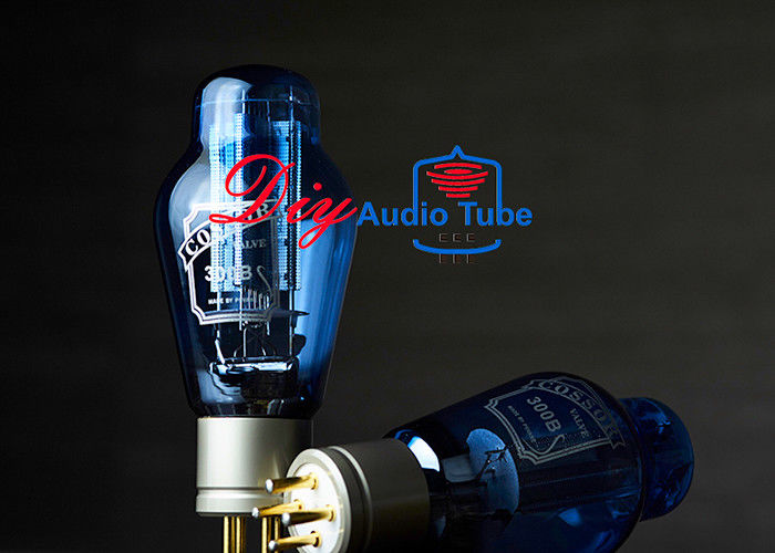 PSVANE COSSOR 300B Audio Stereo Vacuum Tubes Meshed Plate Blue Glass / Gold Pin / Metal Base WE300B 300B-98