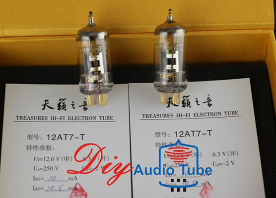 China Shuguang 12AT7-T Digital Tube Amp Higher Transconductance Triode Electron Tubes factory