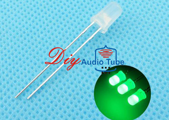 China 5MM Diffused DIY LED Diode Green Lighting With 120 Degrees Viewing Angle factory