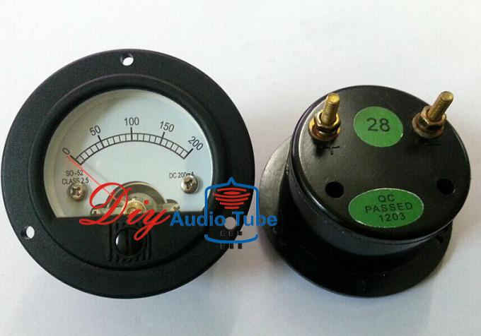 52mm SO52 Tube AMP Parts DC 200MA Round Digital Panel Meter For CD Players