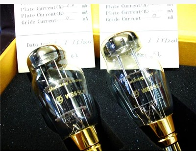 Stereo Guitar Shuguang Vacuum Tubes AC / DC Vf 6.3 Volts Filament WE6SN7