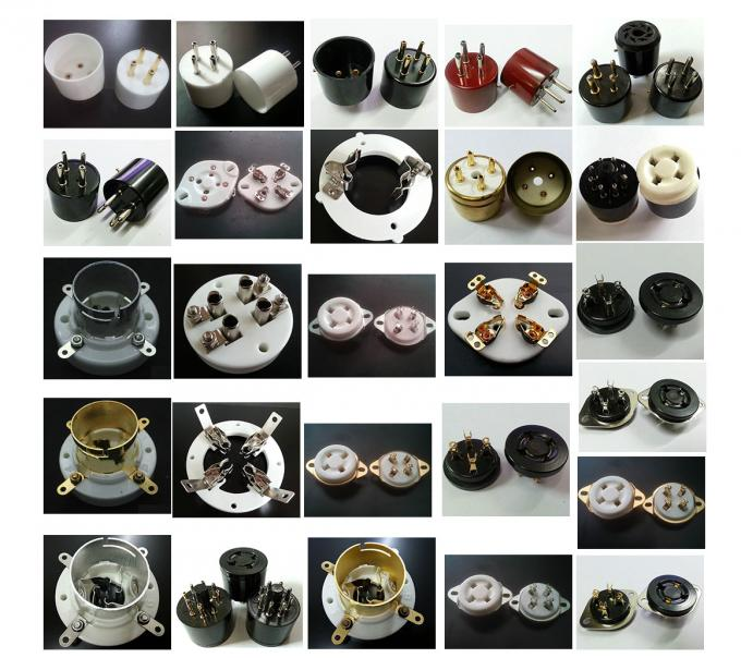 Vacuum Tube Sockets Ceramic 8pin Tube Socket KT66 KT88 6SL7 6SN7 6V6 5AR4/GZ34 5R4GY 5U4G