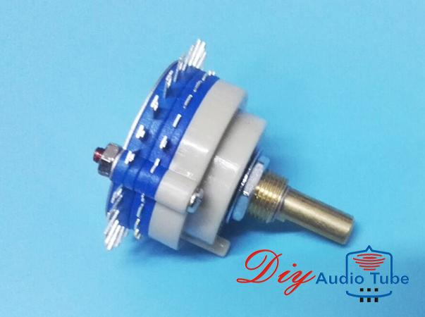 1 Pole 24 step Rotary Switch Attenuator Volume Potentiometer for stereo pre-amp