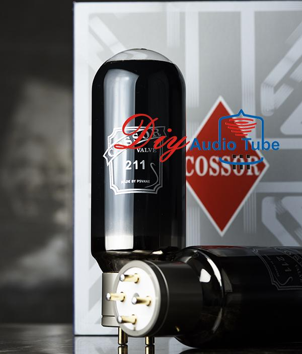 Carbon Coated Psvane Cossor 211 Stereo Vacuum Tubes